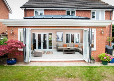 Bifold doors in White - Exterior