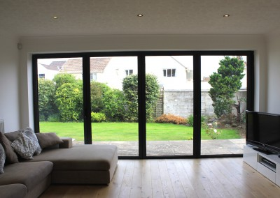 Bifold doors in Black - Interior