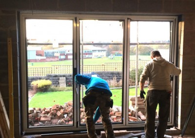 Installation Day - Bifolding Doors are in!