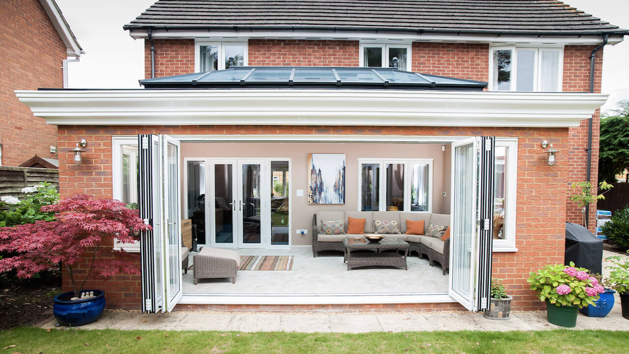 Home with bi-folding doors