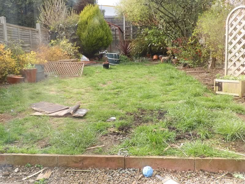 Garden 3 before