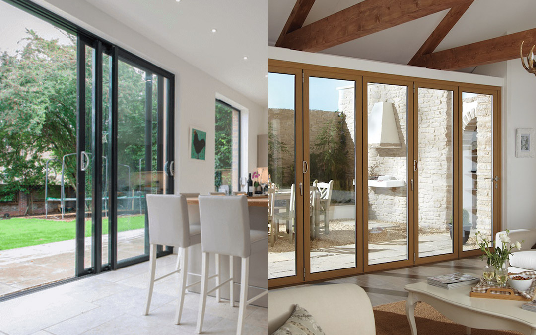 Bi fold doors vs patio sliding doors what s best for you for Patio doors folding sliding