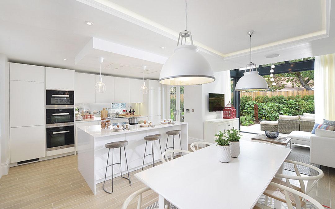 Modern home and garden